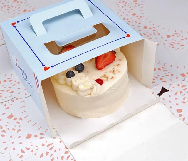 Free Shipping 20pcs Lot 4 Quot Blue Tower Mini Cake Box Cheese