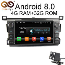 Sinairyu Android 8.0 8 Core 4G RAM Car DVD GPS For Toyota RAV4 RAV 4 2013 2014 2015 WIFI Autoradio Multimedia Stereo