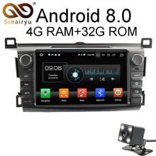 Sinairyu Android 8.0 8 Core 4G RAM Car DVD GPS For Toyota RAV4 RAV 4 2013 2014 2015 WIFI Autoradio Multimedia Stereo