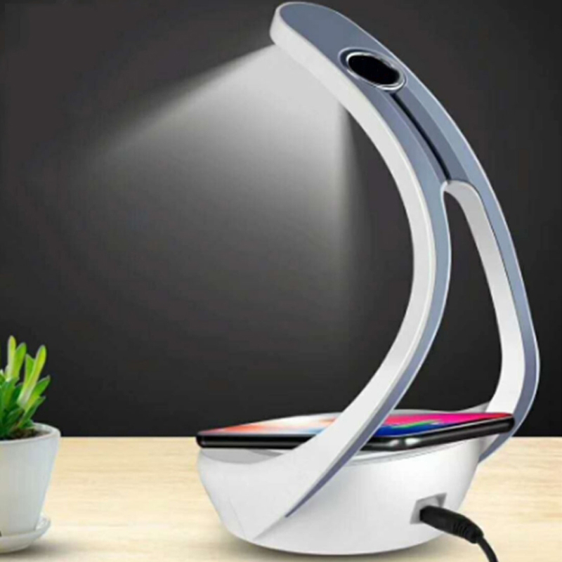 LED mobile phone wireless charging bedroom atmosphere small table lamp wireless desktop charger support mobile phone bracket