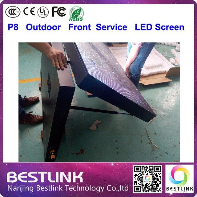 P8 из светодиодов экран на открытом воздухе rgb из светодиодов жк-видеостены с фронта обработки шкаф большой размер открытый из светодиодов щит для рекламы