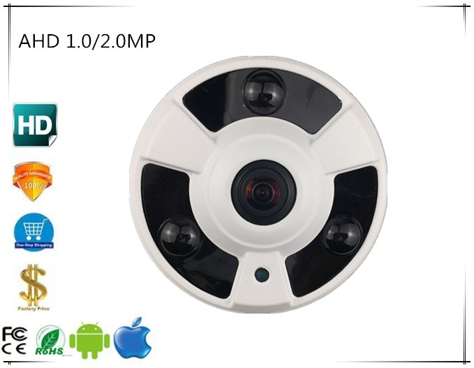 Brave Panorama Fisheye 1.0/2.0mp 720/1080 Ahd Metal Dome Camera 3 Array Leds Infrared Nightvision Irc Xm320s+sony323 Bnc Dc 12v Surveillance Cameras Security & Protection