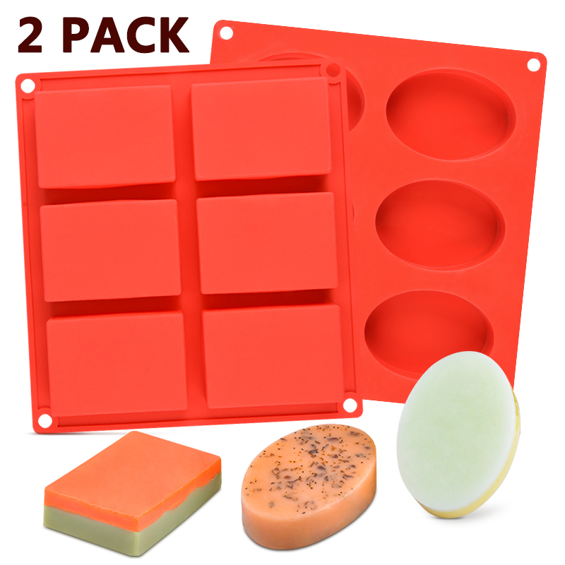Silicone Soap Mold Flower Pattern Rectangular Handmade Soap Making DIY Mould Pip