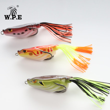 W.P.E Brand 1pcs 15g Frog Fishing Bait Snakehead Lure  Simulation Soft Lures Top water Wobblers Baits Minnow Fishing Crankbait цена
