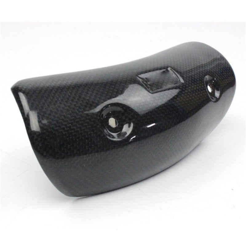 Motorcycle AKRAPOVIC Exhaust Muffler Cover Carbon Fiber Color Protector Heat Shield Cover Guard TMAX530 CB400 CBR300 Z250 Z750