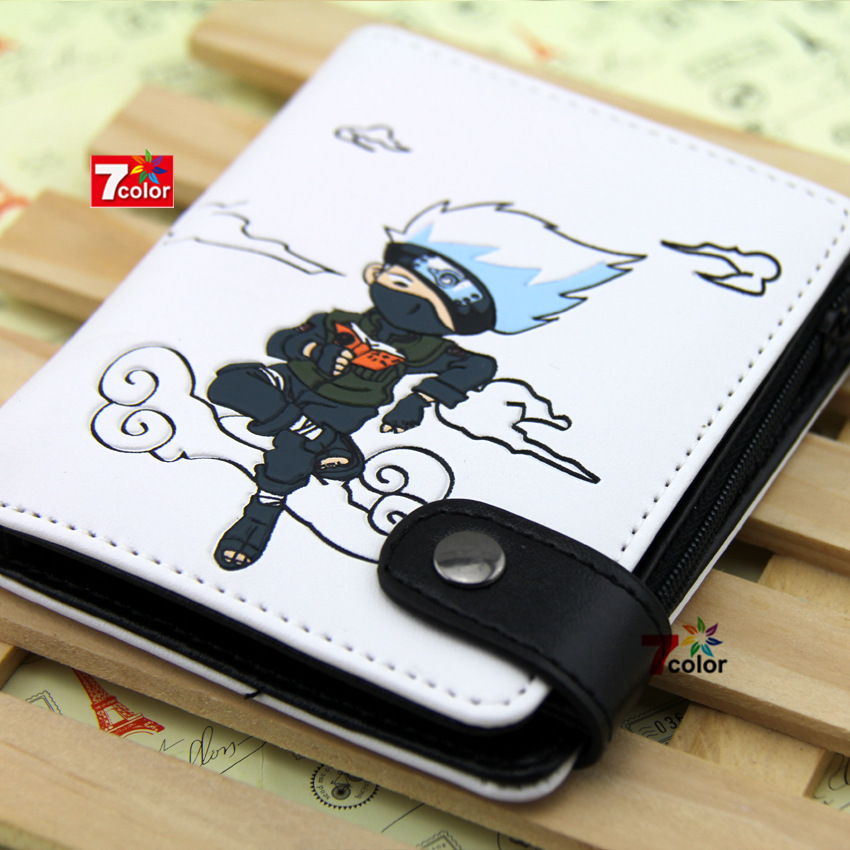 High quality PU anime wallet.Naruto/Attack on titan kakashi lovely gift wallet P001 japanese anime poke death note attack on titan one piece game ow short wallet with coin pocket zipper poucht billetera