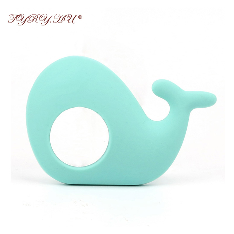 TYRY.HU 1 pcs Whale Baby Teether Non-Toxic Teething Toys Infant Chews Pacifier Pendant Baby Shower Gift BPA Free Silicone