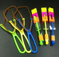 1200pcs DHL Novelty Kids LED Flying Toys Biggest Size Slingshot Amazing Arrow Helicopter For Birthday Party Supplies