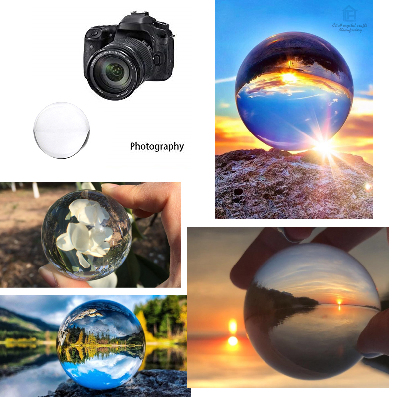 60mm Crystal Ball Glass Transparent Ball Spheres Glass Ball Photography Balls Crystal Craft Decor