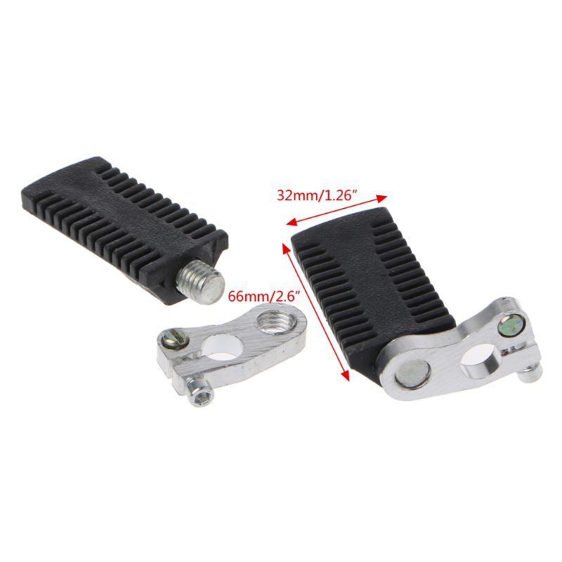 Motorcycle Pedals Foot Pegs Rest Footrests Footpegs For 47/49cc Pocket Dirt Bike Mini Moto Quad ATV 10166