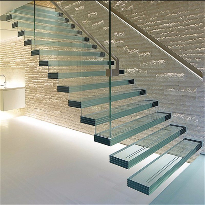 Outdoor Floating Stairs Florida Project: High Quality Low Cost Floating Tempered Glass Staircase