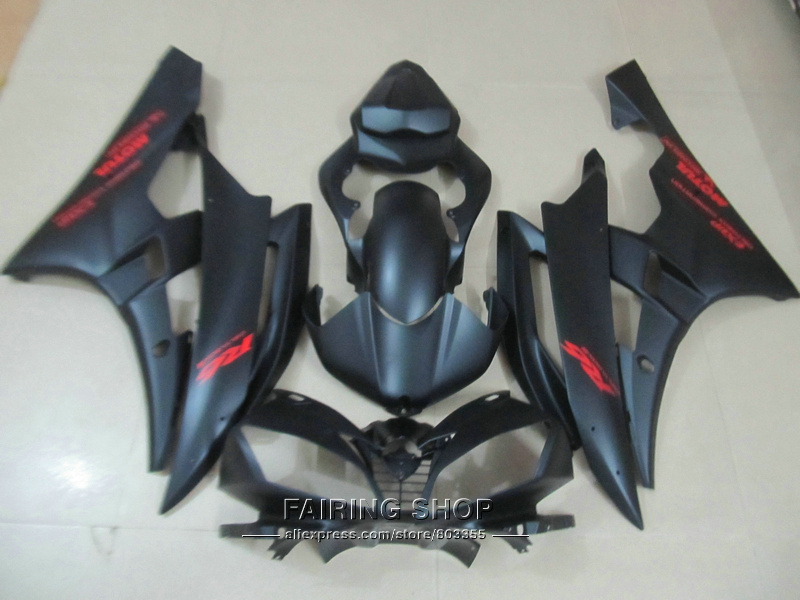 Injection molding free customize fairings For Yamaha R6 06 07 red sticker black bodywork fairing kit YZF 2006 2007 YT16 injection molding fairing kit for kawasaki zx14r 06 07 08 09 2006 2009 wine red black 100% abs zx14r fairings op01