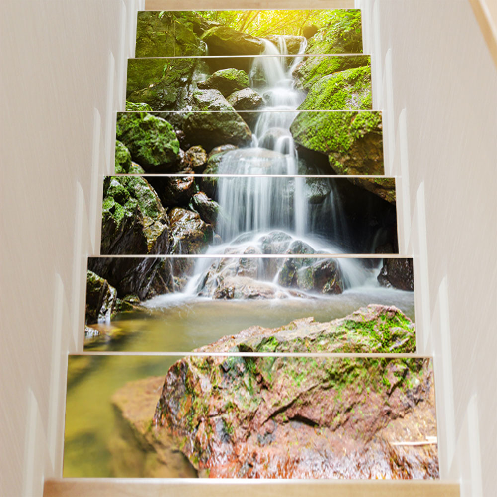 Waterfall wall stickers image collections home wall decoration ideas 6pcsset creative 3d diy alpine waterfall wall stickers stair 6pcsset creative 3d diy alpine waterfall wall amipublicfo Choice Image