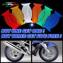 Купите три и получите пять бесплатно! Мотоцикл Стиль Колеса Ступицы обод полоса светоотражающие наклейки безопасности отражатель для YAMAHA HONDA