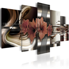 New Top Wall Deocr Canvas Painting 5 Pcs Flower series Modern Printed Oil Pictures Beauty In Home Living Room framed /PJMT-15