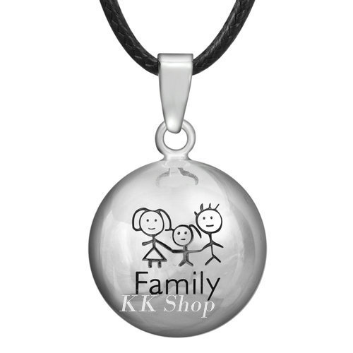 10N14NB230 10PCS/lot Copper Metal bola Family pregnancy pendant belly chime necklace Angel Caller wholesales