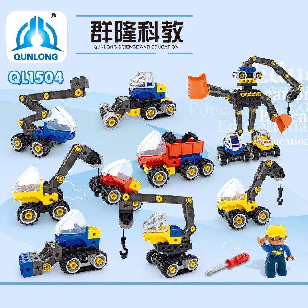 New 100Pcs Technic bulldozer Power Mobile Crane fighter Mk II Model Building Kits Blocks Bricks compatible