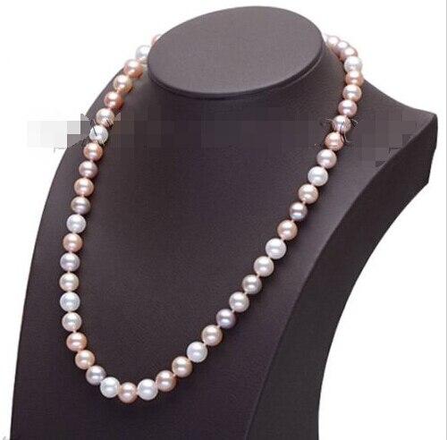 Livraison gratuite > > > > > > 2015 nouvelles femmes jewerly 8 - 9 mm blanc AAA Grade Akoya collier de perles s772