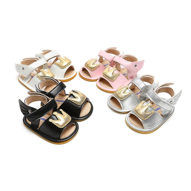 2019 Baby Girl Sandals Summer Leisure Fashion Baby Girls Sandals Infant Crown Princess Shoes