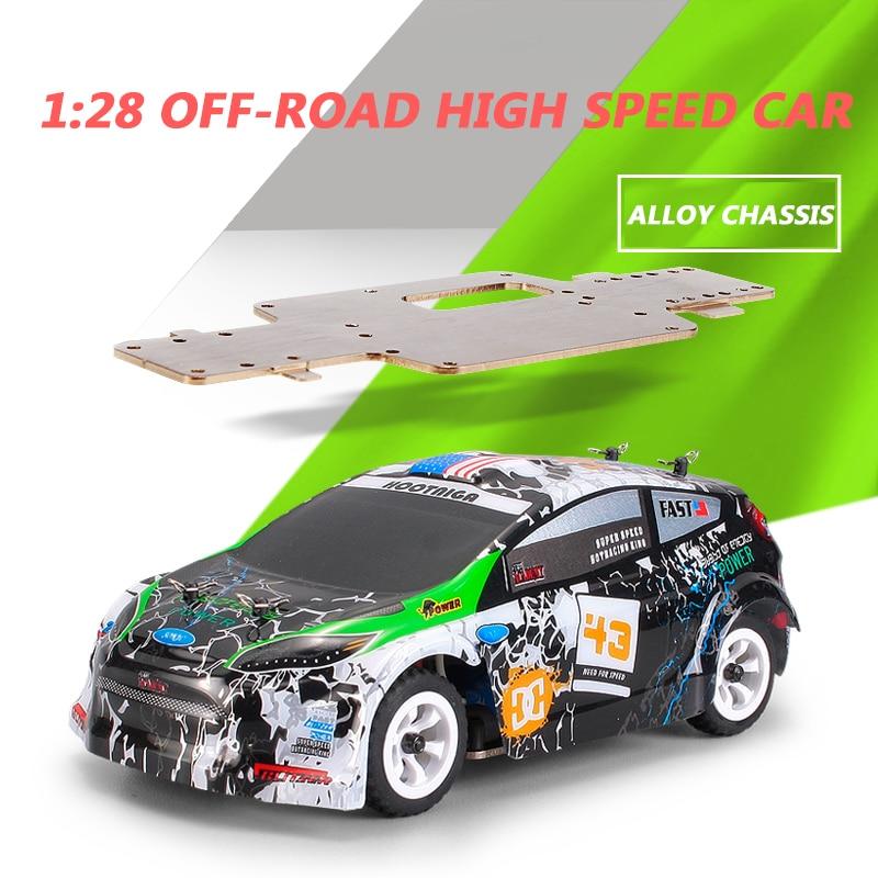 Wltoys K989 1:28 RC Voiture 2.4G 4WD moteur brossé 30 KM/H haute vitesse RTR RC dérive Voiture alliage télécommande Voiture Telecommande - 6