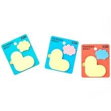 3 pcs bonito eu amo o pato em forma de adesivos nuvem cor Dos Desenhos Animados bloco de notas Notas de Papel Auto-adesivo artigos de Papelaria material Escolar EM902