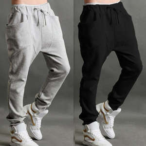 abfd846c9aa39 Fitness Men Casual Sweatpants Baggy Jogger Trousers Fitted
