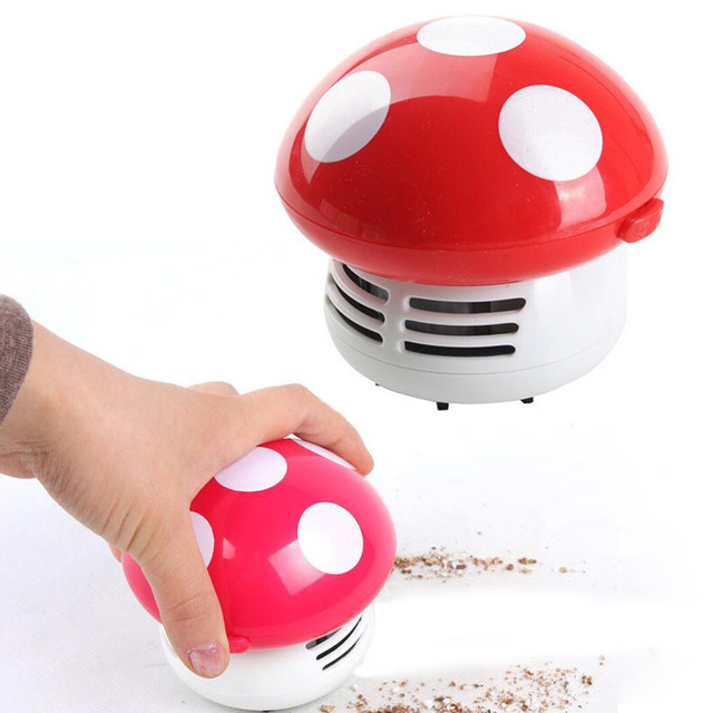 Mini Vacuum Cleaner For Home Handheld Tabletop Car Vacuum Cleaner Dust  Filter Mushroom Vacuum Car Laptop