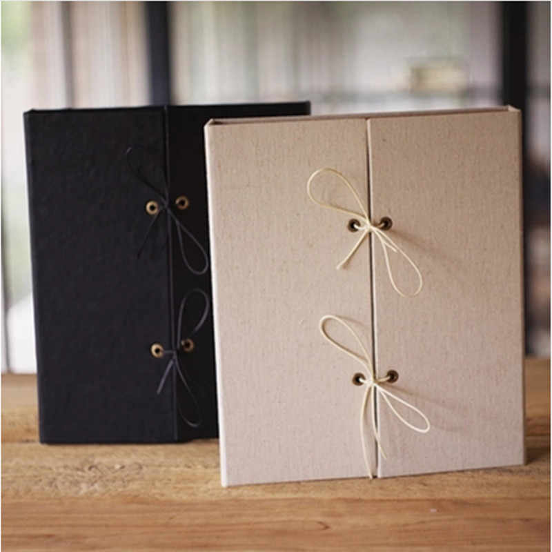 A4 Book Handmade DIY Album Linen And PU Cover Large Capacity  Binding Family Album Fotos Creative Scrapbook Wedding Photo Album