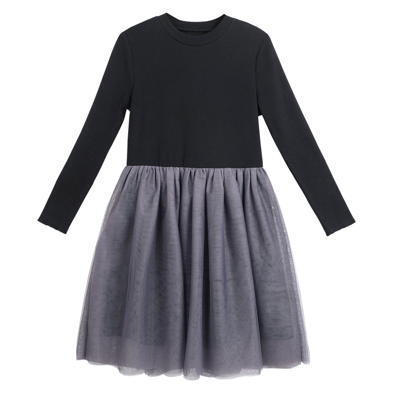 2018 New Autumn Casual Style Cartoon Pink Long Sleeve Girls Dress Wool Bow Design For Princess