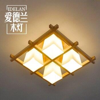 Muebles de madera, sala de estar, sala de estar japonesa, dormitorio, estudio, restaurante, vidrio cálido, lámpara de techo de madera maciza.