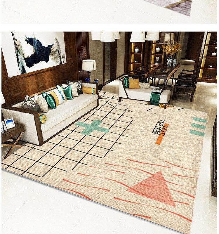 Moderne minimaliste salon tapis nordique ins motif géométrique tapis de sol maison tapis salon sol tapis - 6