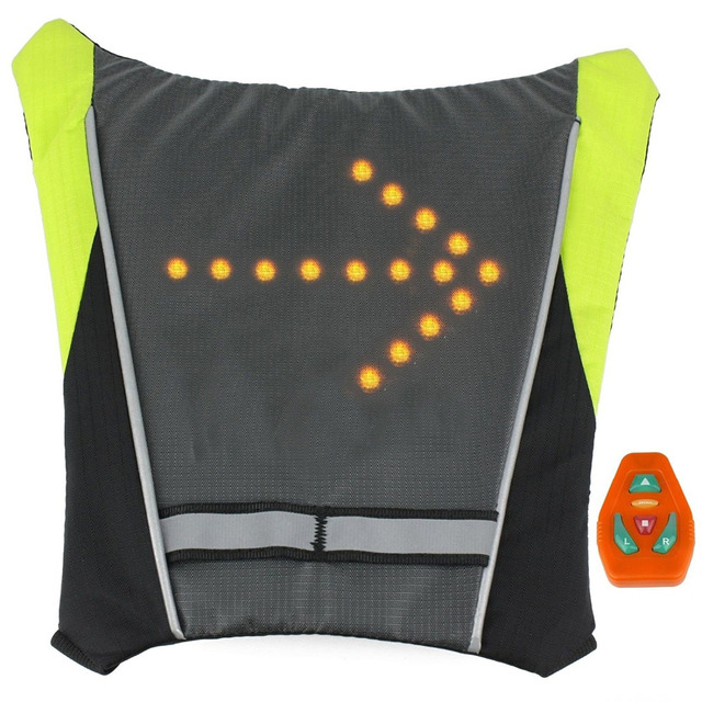 Water Proof Led Light Backpack Sport Reflective Signal Vest For Night Safety