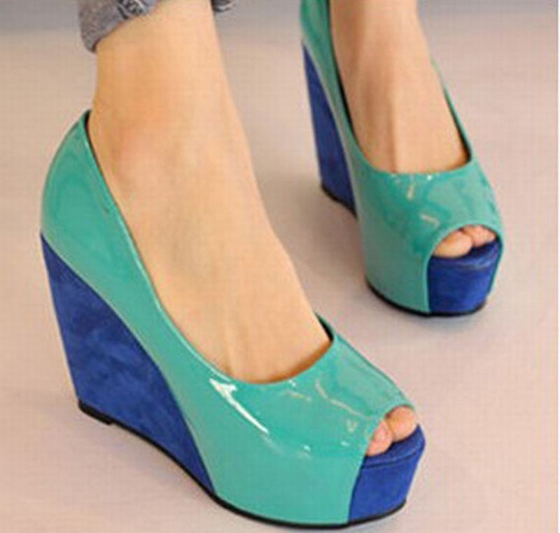 2016 spring new fashion women platform wedges high heels sexy open toe pumps rome woman peep toe single shoes plus size 34-45 ultra thin heels 20cm platform open toe print women s shoes plus size sexy 43 tiangao 42 34