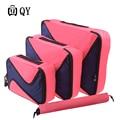 4PCS/Set High Quality Bags Waterproof Nylon Cloth Travel Mesh Organizer Packing Cube Organiser Clothing Accessories