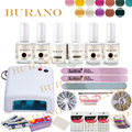 BURANO 15ml nail art & tools nail sets & kits manicure set 36W UV Lamp uv nail gel polish Kit001 new 120colors