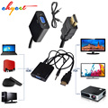 HDMI to VGA 3.5mm plug Audio Cable Adapter Converter Male to Female Video adaptor HDTV CRT Monitor TV for XBOX 360 for PS3