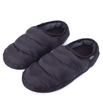 65b55fba4ab93c Winter Men Women Slippers Home Plush Slippers Ladies House Slippers Black Indoor  Shoes Female Warm Down Flip ...