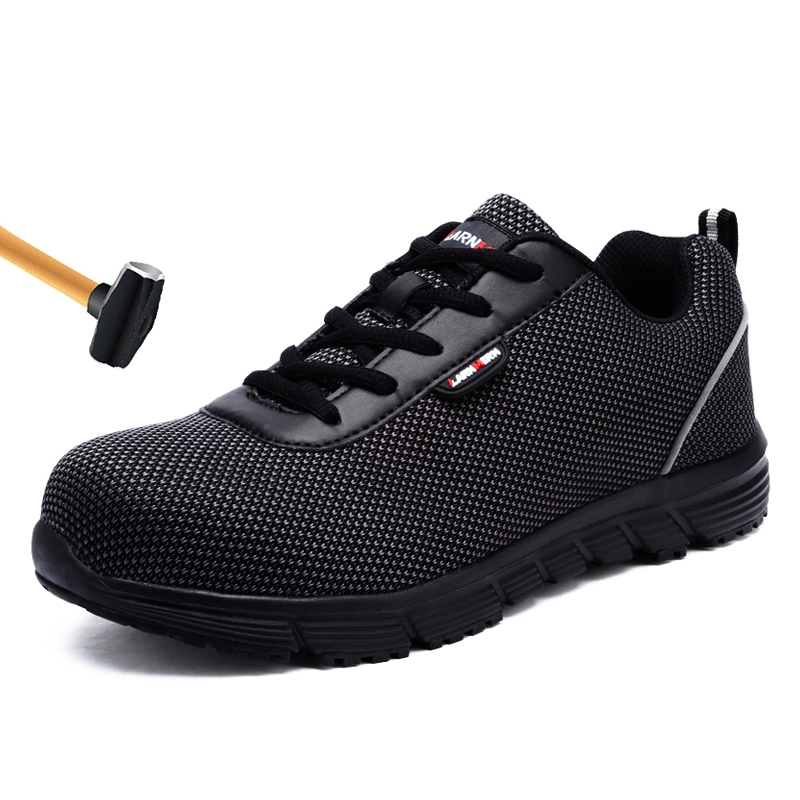 Men Work Safety Shoes Breathable Indestructible Shoes Anti-smashing Anti-puncture Men Sneakers Work Boots Male Footwear 35-46