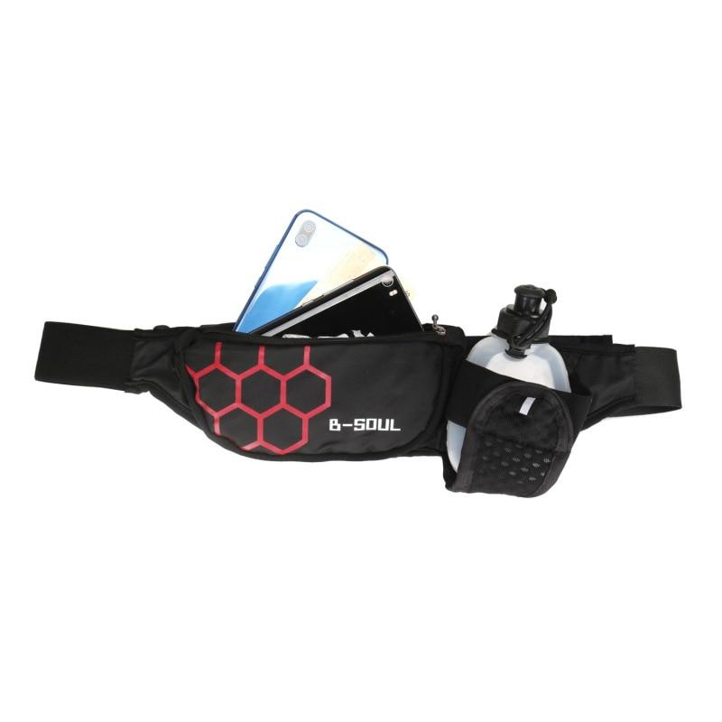 Hot Running Hydration Belt Women Men Sport Running Hip Waist Bag Waterproof Jogging Gym Waist Pack Without Bottle