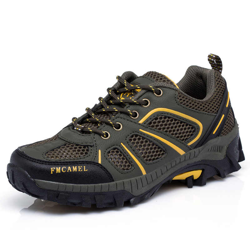Outdoor Camping Men Sports Hiking Shoes Air mesh Athletic Trekking Sneakers Breathable Durable Shoes SD-S8503