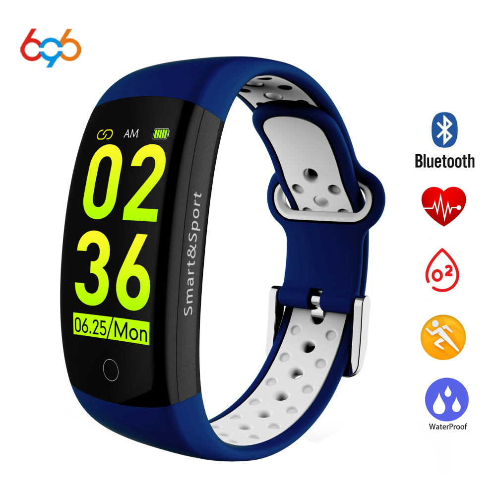 696 Q6S Smart Bracelet HR Fitness Tracker Wristband SleepTracker Waterproof IP68 Activity Tracker Smart band for