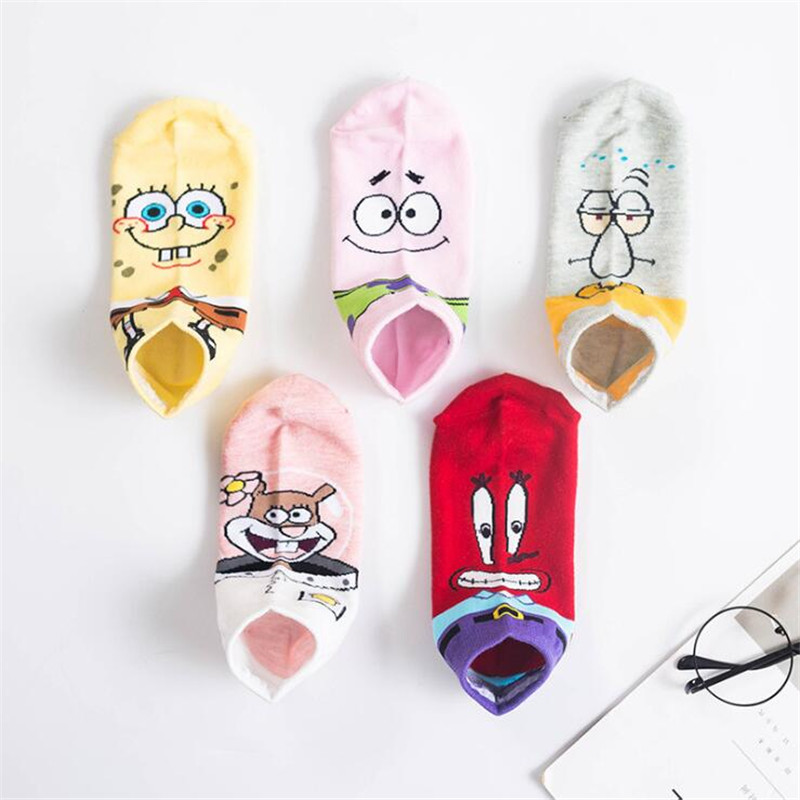Fashion Cartoon Character Cute Socks Women Harajuku Kawaii Patterend Short Socks Hipster Ankle Funny Cartoon Socks For Female