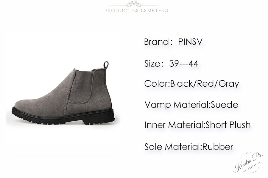 PINSV Chelsea Boots Men Shoes Ankle Boots Men Cow Suede Leather Boots For Men Trendy Autumn Shoes Bota Masculina 3