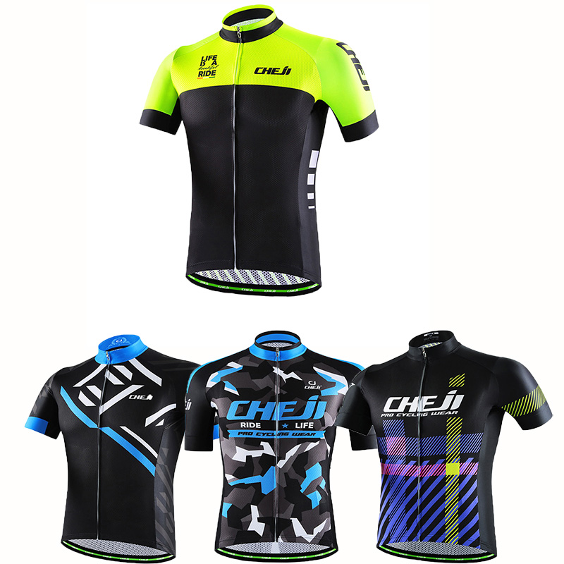 Prix pour Cheji Hommes Cyclisme Maillots Ropa Ciclismo Vélo Jersey VTT Vélo De Sport De Course Vélo Vêtements Moto Vestes