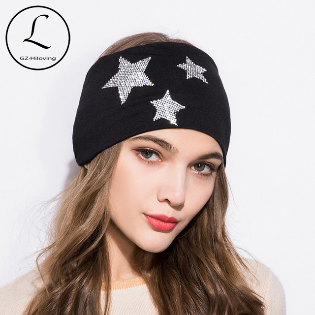GZHILOVINGL 2018 New Spring Summer Fashion Women Headbands star Wide Cotton  Girls Womens Solid color Headwrap ca07e9aed17