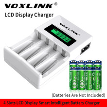 цена на VOXLINK LCD-004 LCD Display With 4 Slots Smart Intelligent Battery Charger For AA/AAA NiCd NiMh Rechargeable Batteries