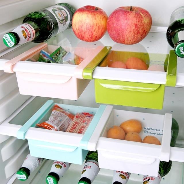 1PCS Fridge Storage Box Pull out Refrigerator Fresh Box Kitchen