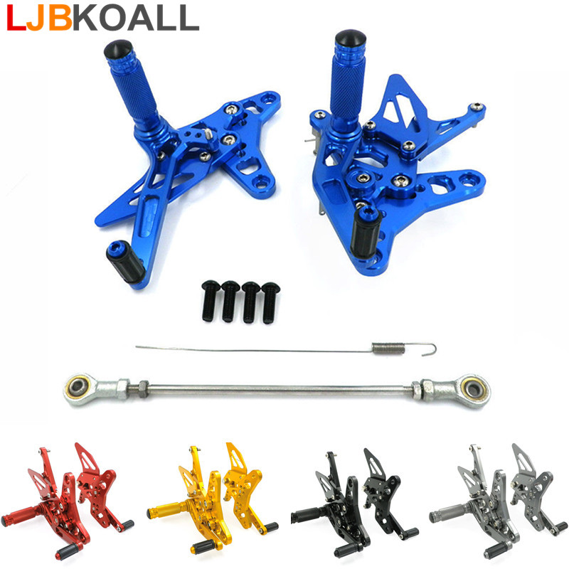 CNC Aluminum Motorcycle Rearsets Rear Set Foot Pegs Pedal Footrest For Suzuki SV 650  SV650 SV650S 2016-2017 5 Colors Free Ship