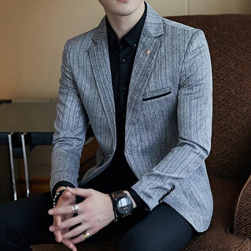 Luxury Party Prom Blazer Fashion Men's Business Slim Men's Suit Jacket Large Size 5XL Men's Classic Retro Social Suit Jacket