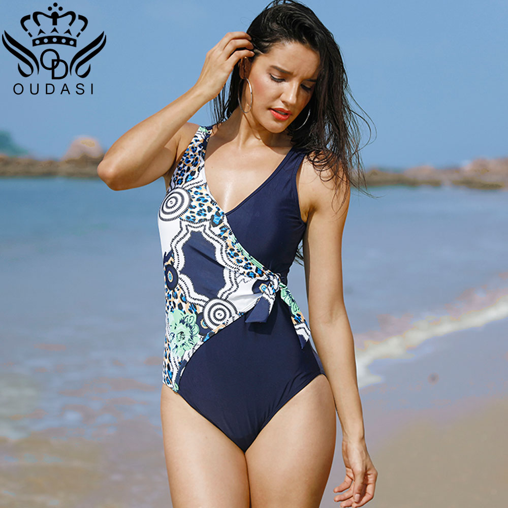 Sexy One piece swimsuit floral print swimwear women push up bathing suit women vintage bodysuit Tie new arrival swimsuit RETRO pineapple print one piece swimsuit
